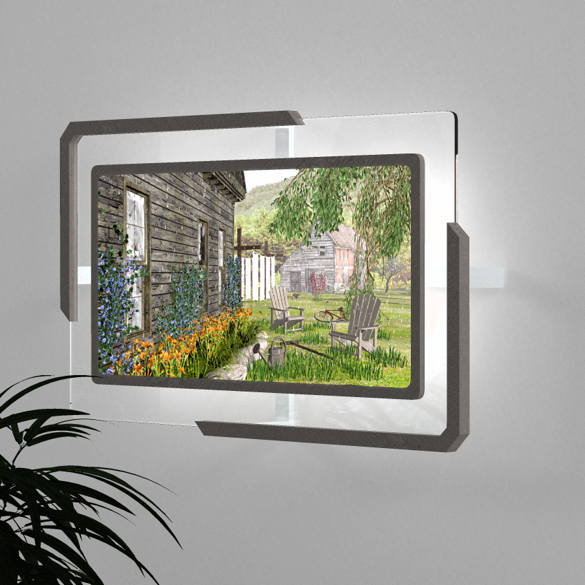 Conceptual rendering of LED backlight display frame