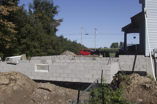 Construction progress - Foundation Complete