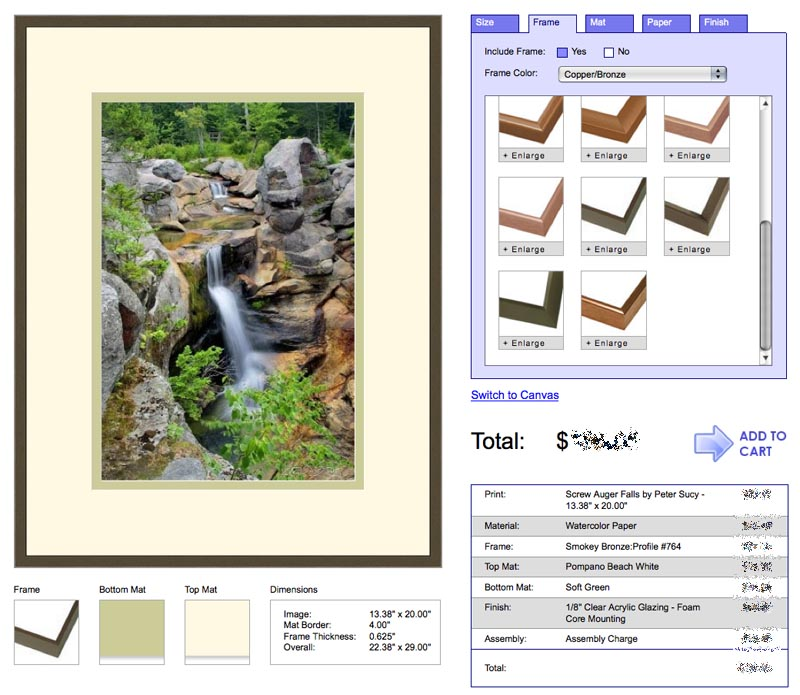 Fine Art America Matting & Framing App><br clear=